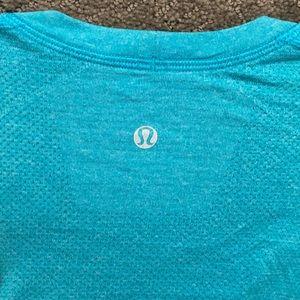 Men's Blue lulu workout shirt